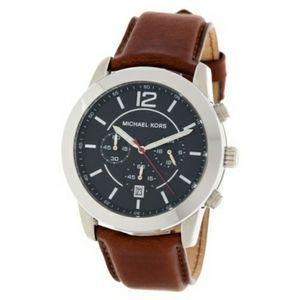 NWT MK Mercer Leather Strap Watch